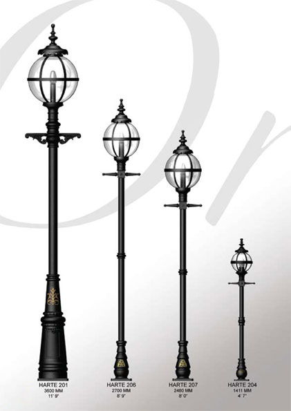 Heritage Pole Mounted Lights Outdoor Lighting Cast
