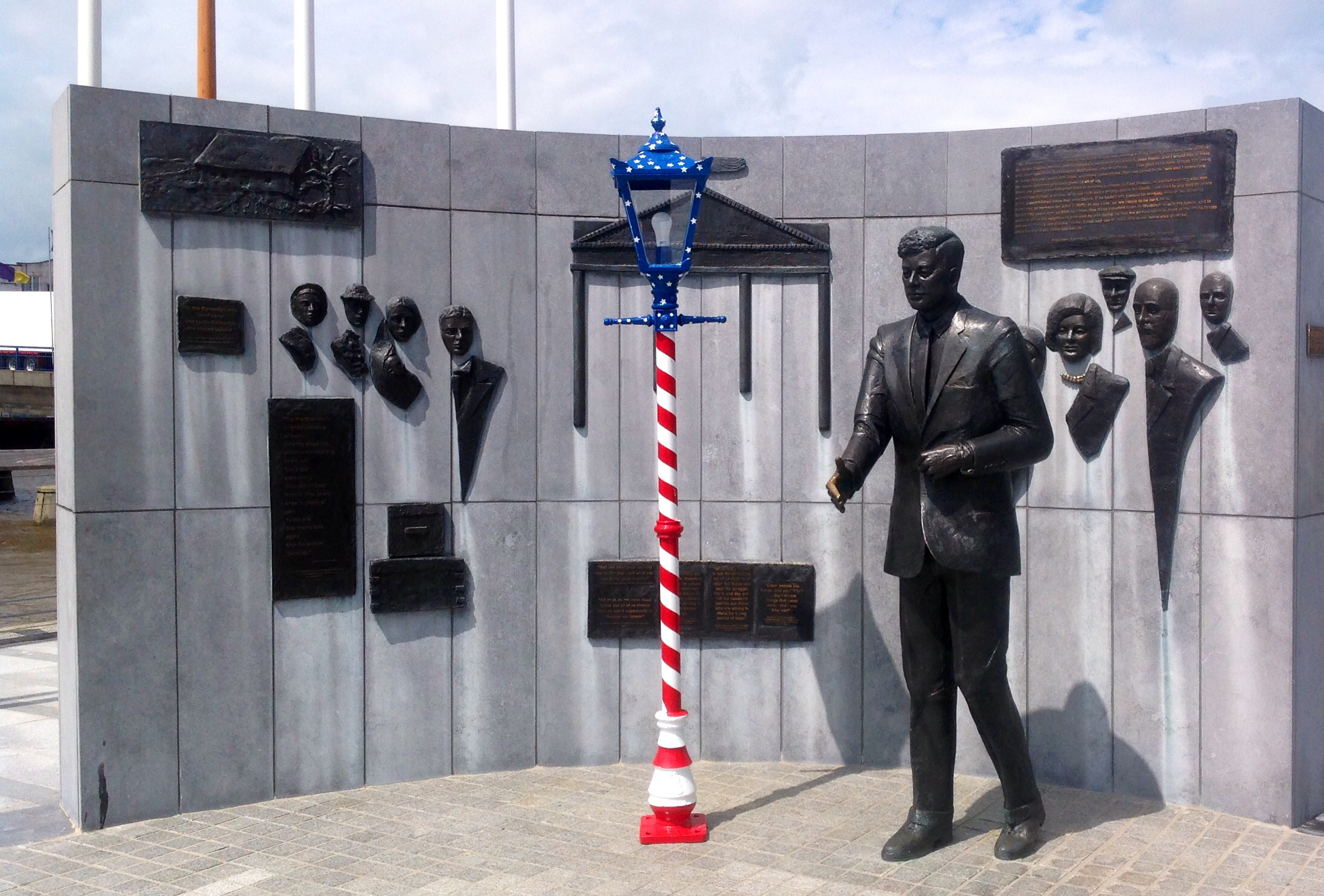 """8\'6\"""" Traditional Park Range for the 4th of July Celebrations at JFK Statue, The Quay, New Ross"""