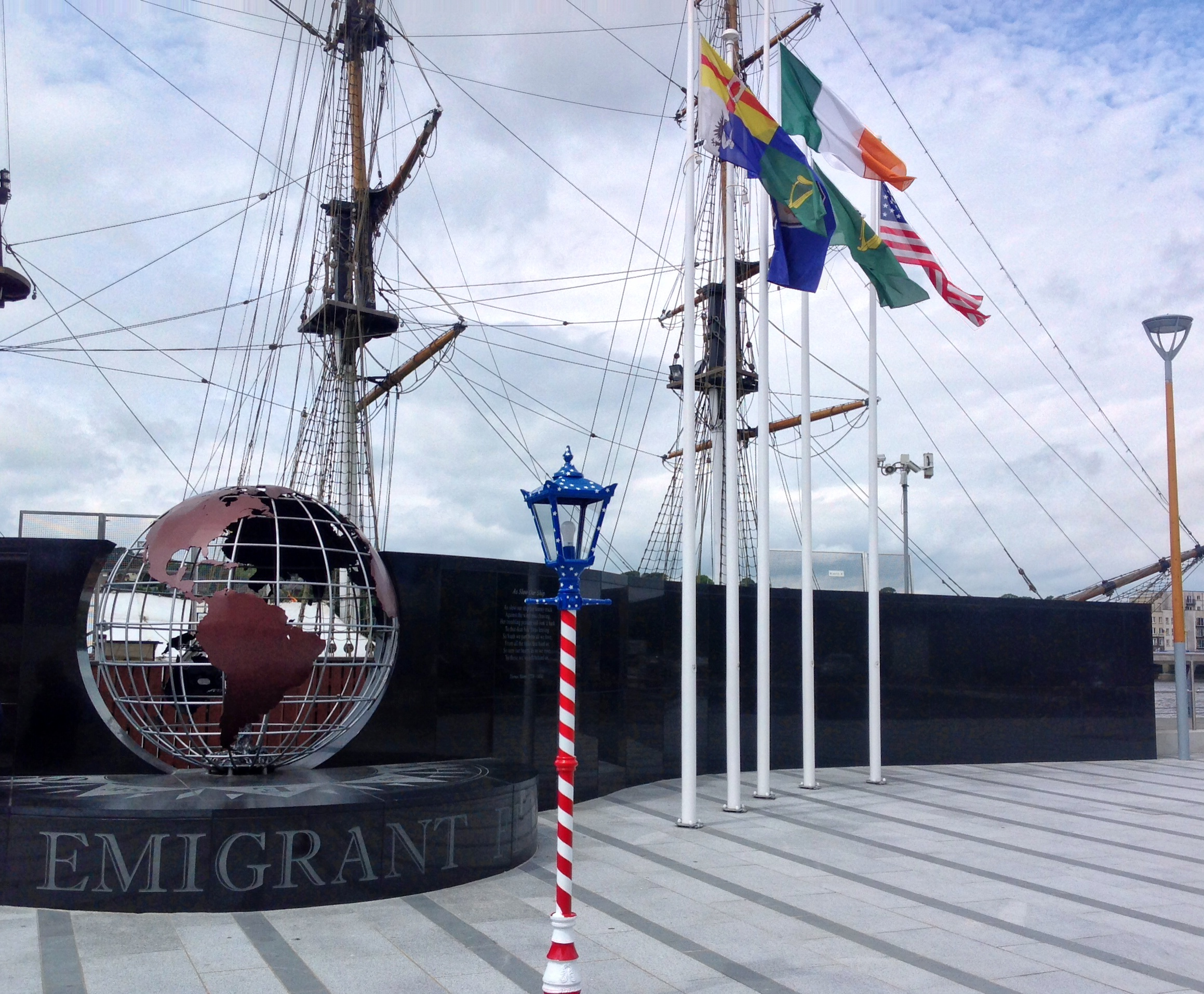 """8\'6\"""" Traditional Park Range for the 4th of July Celebrations at the Emigrant Flame, The Quay, New Ross"""