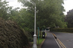 Refurbished Street Light fitted with TD301 Large Tear Drop Lantern in NUI, Maynooth