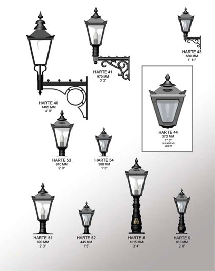 Harte Traditional Lighting Range