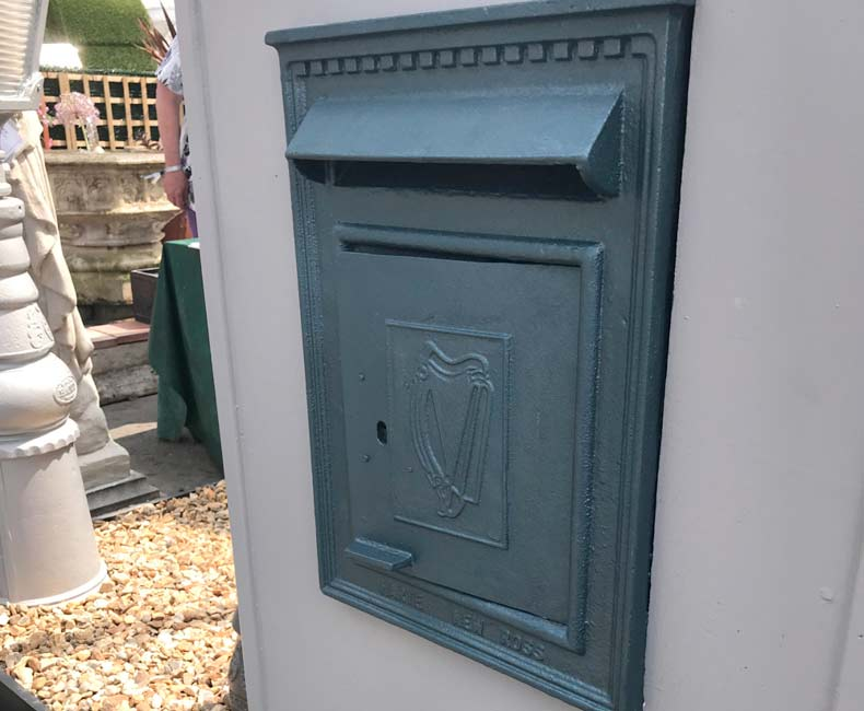 Harte Cast Iron Post Box
