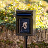 Harte Cast Iron Free Standing Post Box