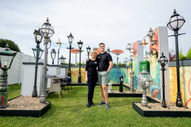 Harte Outdoor Lighting and Cast Iron Postboxes made in Ireland at RHS Tatton Park Show UK