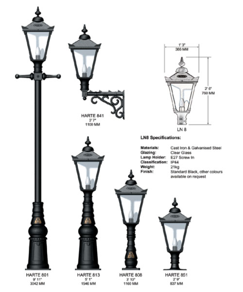 Harte Manor Cast Iron Lighting Range