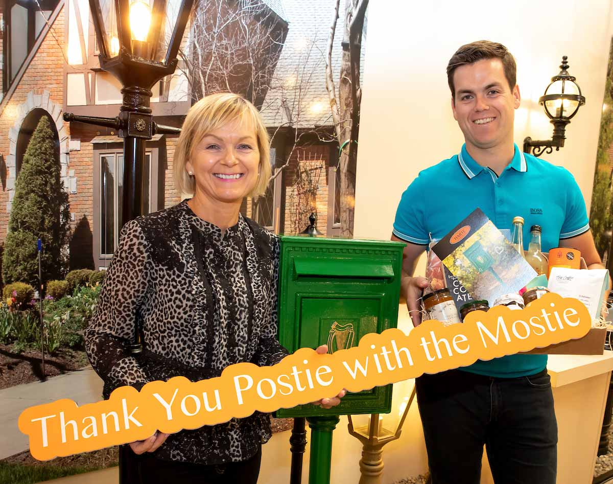 Liz and Jack Harte - showing appreciation for the postie